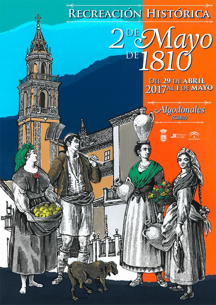Cartel 2 de mayo Algodonales 2017